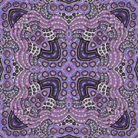 Dusty Lavender Purple Magnetism fabric by eclectic_house on Spoonflower - custom fabric