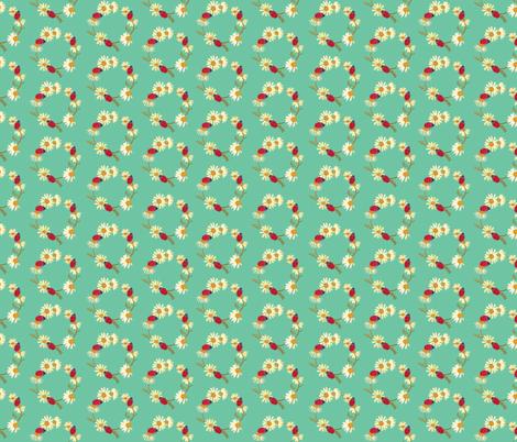 Ladybugs_chamomile_julznally fabric by julznallyillustration on Spoonflower - custom fabric