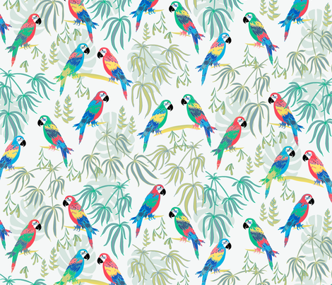 Rainforest Macaws fabric by jill_o_connor on Spoonflower - custom fabric