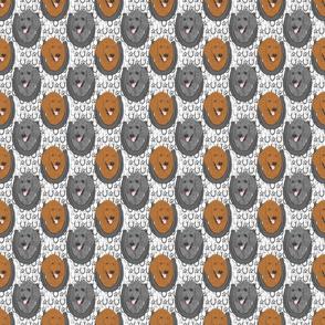 Standard Poodle horseshoe portraits B - small