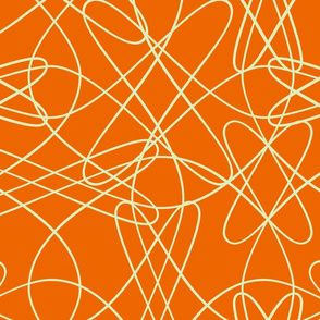 lines and loops - orange yellow