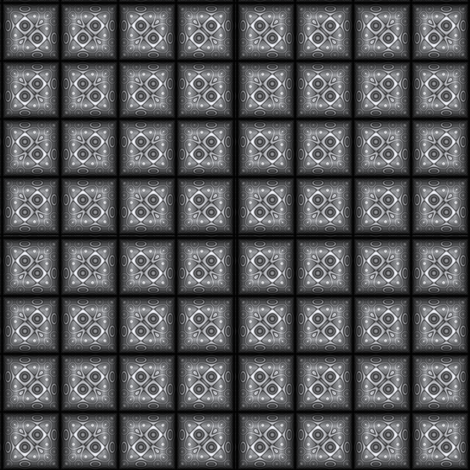 Dark Gray Sculpted Tile fabric by gingezel on Spoonflower - custom fabric