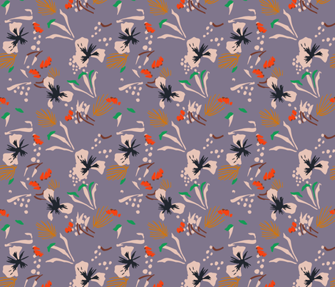 seville_garden_lavender fabric by holli_zollinger on Spoonflower - custom fabric