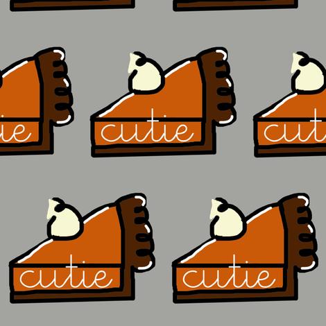 Thanksgiving Cutie Pie fabric by pickeekids on Spoonflower - custom fabric