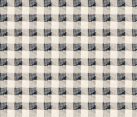 seville_gingham_black fabric by holli_zollinger on Spoonflower - custom fabric
