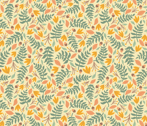 Falling Leaves fabric by taylorshannon on Spoonflower - custom fabric