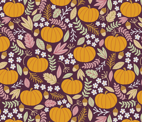 October-Plum-large fabric by taylorshannon on Spoonflower - custom fabric