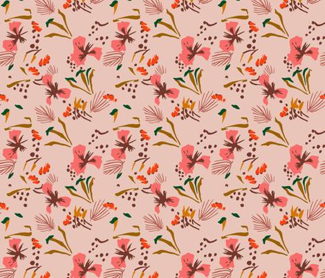 seville_garden_pink fabric by holli_zollinger on Spoonflower - custom fabric