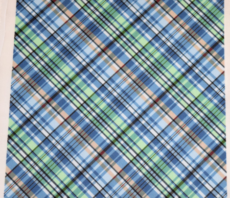 Mainly Blue and Green Madras Plaid