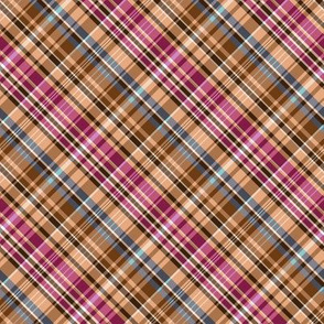 Mainly Sand and Burgundy Madras Plaid