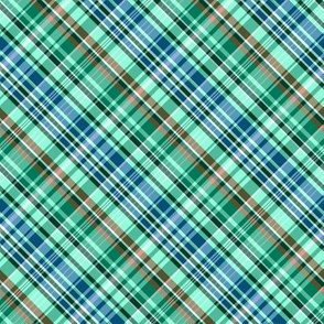 Mainly Mint Green and Blue Madras Plaid