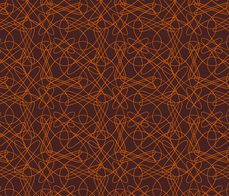 lines and loops - brown orange fabric by zuzana_licko on Spoonflower - custom fabric