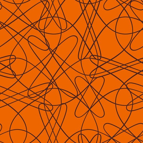 lines and loops - orange brown
