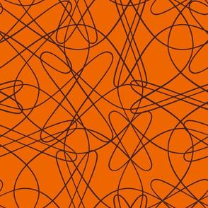 lines and loops - orange brown