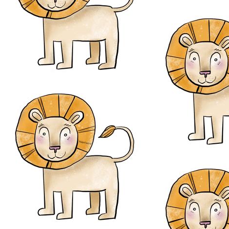Kind Little Lion fabric by taraput on Spoonflower - custom fabric