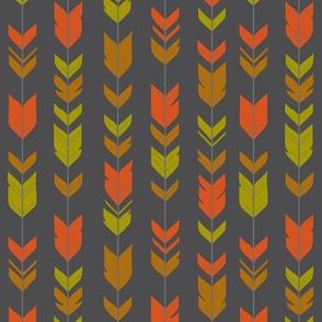 arrow Feathers- navy/coral/grey-ch-ch-ch-ch-ch
