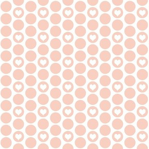 Peach heart polka dots by Su_G