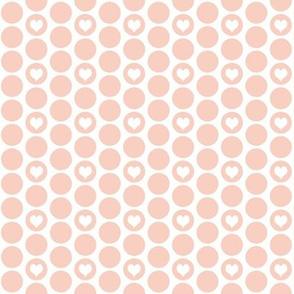 Peach heart polka dots by Su_G