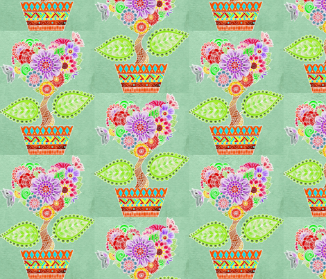 Fabric Flowerpots fabric by floramoon on Spoonflower - custom fabric