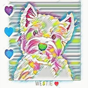 West Highland Terrier Rainbow