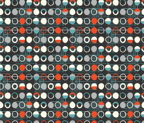 Mid-Century Modern  Konawood - Stones-02 fabric by diane555 on Spoonflower - custom fabric