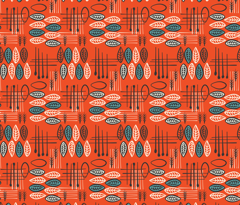 Mid-Century Modern  Konawood - TikTac-03 fabric by diane555 on Spoonflower - custom fabric