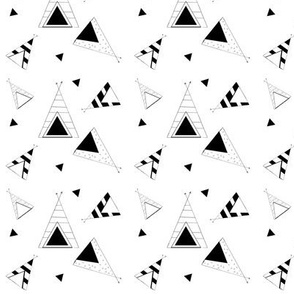 Tee Pee Nation - SMALL - black and white