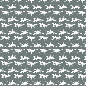 F18 Jet in an offset pattern with gray background