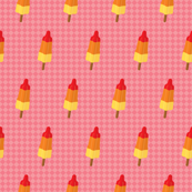 Popsicles on pink background