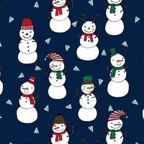 snowman // christmas snowmen cute xmas holiday illustrated fabric by andrea lauren andrea lauren fabrics christmas sewing projects cute christmas stocking fabrics