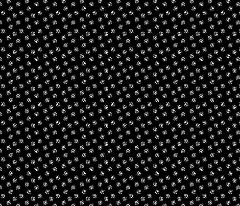 Ferret tracks - black fabric by rusticcorgi on Spoonflower - custom fabric