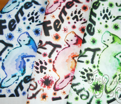 Ferret graffiti - galaxy white
