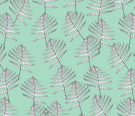 Ferns Large fabric by topsuite on Spoonflower - custom fabric