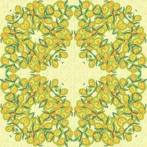 Yellow Green Leaves and Fruit Wreath