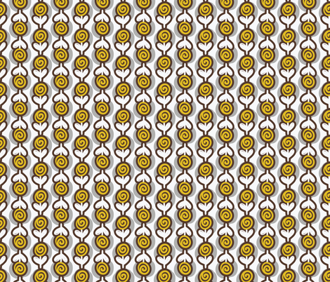 Mid-Century Modern  Konawood - Posy-09 fabric by diane555 on Spoonflower - custom fabric