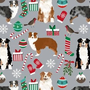 australian shepherd christmas fabric cute aussie dog xmas fabrics christmas designs christmas fabric