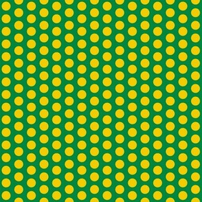 Polka_Dot Green & Gold