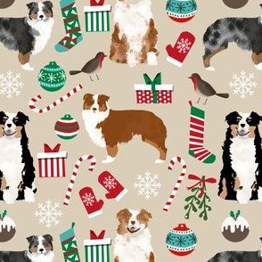 australian shepherds christmas fabric xmas christmas dog cute dog breeds fabric australian shepherds dog