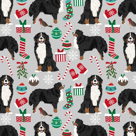Bernese Mountain Dogs Christmas Fabric Cute Dogs Fabric Xmas Holiday