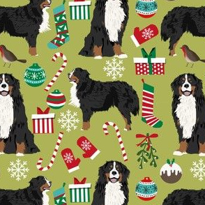 bernese mountain dogs christmas fabric cute dog xmas holiday dogs fabric cute holiday dog