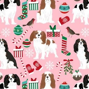 cavalier christmas fabric cavalier king christmas fabrics xmas dog dogs cute xmas fabrics