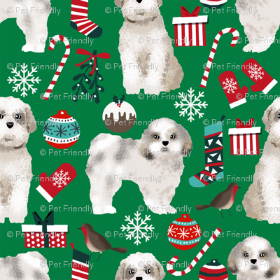 shih tzu christmas fabric cute dogs xmas holiday christmas fabrics dog christmas fabrics