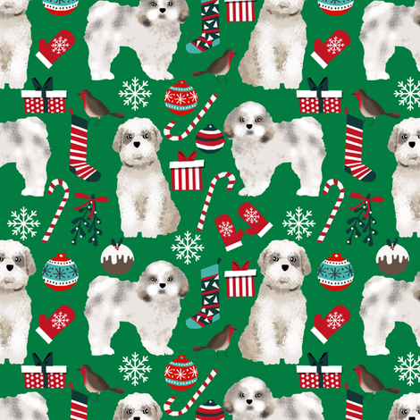 shih tzu christmas fabric cute dogs xmas holiday christmas fabrics dog christmas fabrics fabric by petfriendly on Spoonflower - custom fabric