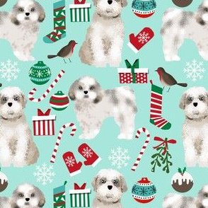 shih tzu fabric cute christmas fabrics xmas dogs fabric cute shih tzu fabrics