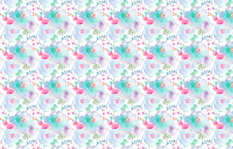 Indy Bloom Floral blues B fabric by indybloomdesign on Spoonflower - custom fabric