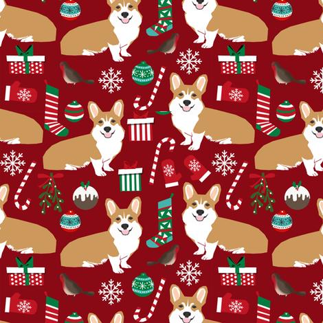 corgi christmas fabric xmas holiday dogs fabric dog fabric cute christmas fabrics best corgi design xmas holiday christmas fabric by petfriendly on Spoonflower - custom fabric