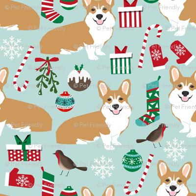 corgi christmas fabric xmas corgi dogs dog fabric xmas dogs fabric cute christmas fabrics - Corgi Christmas