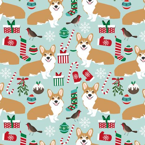 corgi christmas fabric xmas corgi dogs dog fabric xmas dogs fabric ...