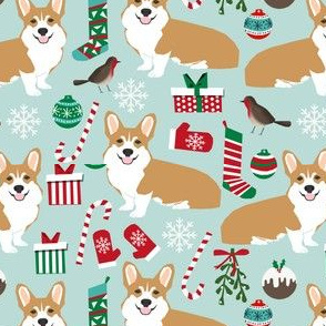 corgi christmas fabric xmas corgi dogs dog fabric xmas dogs fabric cute christmas fabrics