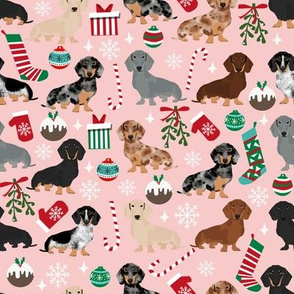 dachshunds christmas fabric cute doxie design christmas fabrics best xmas dogs fabric